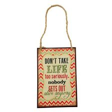 Don't Take Life Too Seriously Plaque – Saying Sign Funny Wall Retro Funny Metal