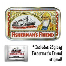 FISHERMANS FRIEND Free LOZENGES bait Stash Tobacco Baccy Box Storage gift Tin