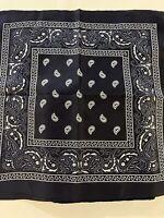 "Lot Of 13 Large Royal Blue Scarf Bandana 100% Cotton (22""x21"")"