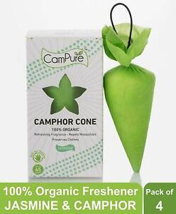 Pack Of 4 Camphor Cone-Room Freshener,Insect Repellent 60g From Campure Jasmine