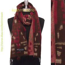 New 100% Cashmere Scarf Classic Plaid Scotland Soft Warm Wool Brown/berry/beige