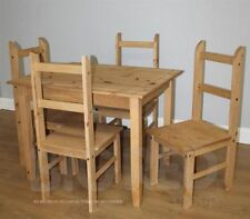 Pine Square Traditional Table & Chair Sets