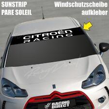 831 Pare soleil lettrage CITROEN RACING sticker aufkleber sunstrip decal DS3 C2