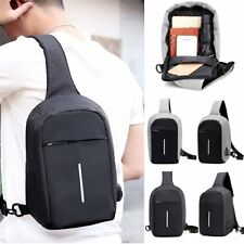 Anti Theft Men Smart Small Chest Bag Travel Sport Pack Crossbody USB Charge UK
