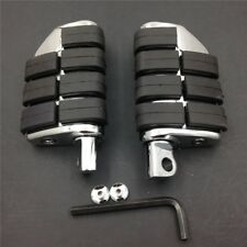 Chrome Dually Foot Rest pegs For Harley Touring Electra Glide Softail Dyna