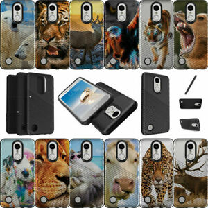 For LG Risio 2 | LG Rebel 2 | LG LV3 (2017) Shockproof Dual Layer Case Animals