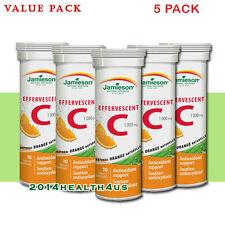 5 x Jamieson Effervescent Vitamin C 1,000 mg - Orange - 10's