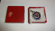 Vintage Boxed Band of Hope & ISAA Boys High Jump White Metal & Enamel Medal 1961