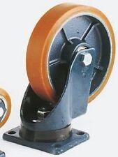Lag INDUSTRIAL SWIVEL CASTOR 250mm 200x160mm 1400kg Cast Iron Hub, Ball Bearing