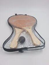 Beach Racquet Matkot Professional Hollow Racket Wood Paddles Original + 1 Ball