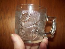 Antique HTF EAPG Child's Mug leaf Homespun