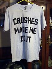 Smirnoff  T Shirt Size M CRUSHES MADE ME DO IT plus frisbee pins etc