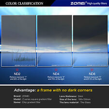 ZOMEI 150x100MM Glass Square Graduated ND248 Neutral Density Filter for Cokin Z
