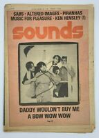 Sounds Music Magazine 22 November 1980 Bow Wow Wow Sabs Piranhas Altered Images