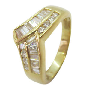 18ct Yellow Gold 0.50ct Diamond Fancy Wishbone Wedding Band Ring