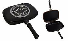 Supreme Die-Cast Double Grill Pan 34cm Double Sided Frying Pan Flipping Griddle