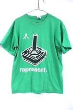 Authentic Vtg 1980S Atari Represent T Shirt Green Gildan 100% Cotton M