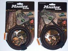 Master Lock Python Cables 2 Keyed Alike  MFG #8418KADCAMO-TMB