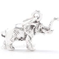 ELEPHANT Charm Pendant Africa Safari Zoo Animal 925 STERLING SILVER 3D .925
