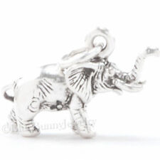 3D ELEPHANT Africa Safari Zoo Animal 925 Charm Pendant Solid STERLING SILVER
