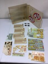 1960 AMT Slot car decal sheets Plus Motors/Slot Car Carry Case