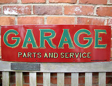GARAGE enamel sign parts & service large sign vitreous porcelain garage VAC198