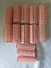 Vintage Pink Snap On Curler Rollers