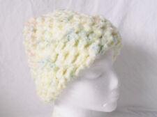 "Yellow Crocheted Hat/Beanie Handmade by Pizazz Creations-17""Around-9 3/4"" Long"