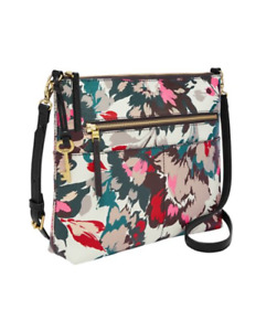 Fossil Women's Fiona Large Crossbody Pink Floral