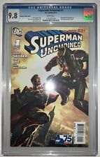 Superman Unchained 1 CGC 9.8 Bermejo Variant Cover