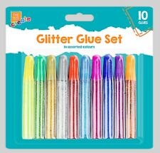 10 Glitter Glue Pens Assorted Colours  Arts & Craft Making  Artbox