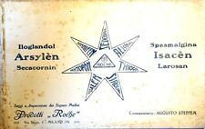 Pubblicità d'Epoca Carta Assorbente Prodotti Roche Milano - Augusto Steffen 1920