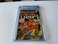 MARVEL TEAM-UP 32 CGC 9.6 WHITE PAGES SON OF SATAN HUMAN TORCH MARVEL COMICS