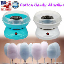 White Blue Diy Children Mini Cotton Candy Machine Automatic Electric Commercial