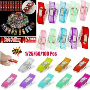 Pack of 50/100 Wonder Clips For Fabric Craft Quilting Knitting Sewing Crochet @I