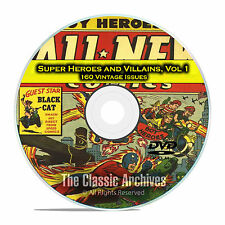 Super Hero, Villains, Vol 1, Black Terror, Exciting, Golden Age Comics DVD D66