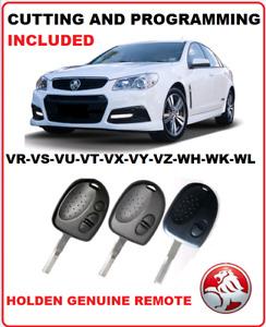 CUT & PROGRAM Holden Commodore Remote Car Key  VS VR VU VX VT VX VY VZ WK WL WL