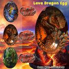 Lava Dragon Egg Dinosaur Crystal Resin Statue Souvenir Collection With Lava Base