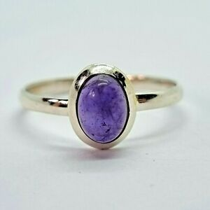 Brand New Sterling Silver 925 Amethyst (Oval) Ring, Size P