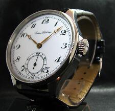 4132 UHRENFABRIK UNION GLASHUTTE Antique Men's Large Stainless Steel Wristwatch
