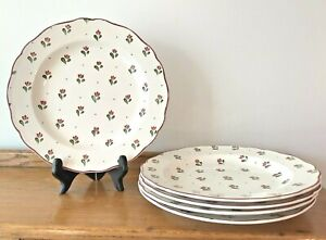 "Set of 5 Johnson Brothers Bros BONJOUR Dinner Plates ~ 9 3/4"""