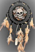 Skull & Roses LED Light Up 16cm Dreamcatcher