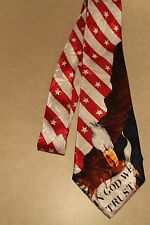 The American Flag In God We Trust On A Brand New 100% Polyester Neck Tie!