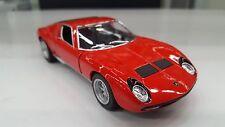 1971 Lamborghini Miura P400 SV red car model kinsmart Toy 1/34 scale diecast