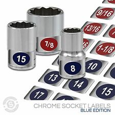 Chrome Socket Set Labels  - BUY 1 GET 2 FREE Impact Sockets Labels, Metic + SAE