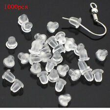 Wholesale Lots 1000x Clear Soft Silicone Rubber Earring Back Stopper Findings