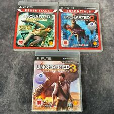 Uncharted 1 2 & 3 PS3 PlayStation 3 Game Bundle Fortune Among Thieves Deception