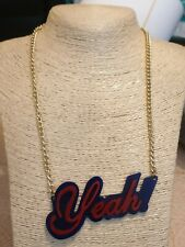 Fashion Jewellery Necklace teens gold Tone chain with yeah in red and black