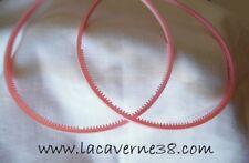 2 serres tête rose clair acrylique avec picots accessoires cercle cheveux