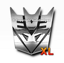 1 - NEW XL chrome transformers DECEPTICON megatron badge emblem FULL CHROME